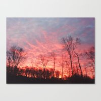 Fire in The Sky II Canvas Print