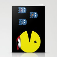 pacman effect Stationery Cards
