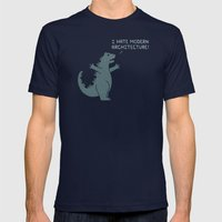 Monster Issues - Godzilla Mens Fitted Tee Navy SMALL