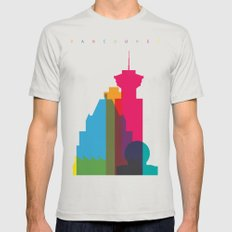 Shapes of Vancouver. Accurate to scale. Mens Fitted Tee Silver SMALL