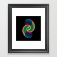 Double Spiral  Framed Art Print