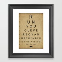 Run You Clever Boy - Doc… Framed Art Print