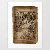 JC: Cleanses the Temple Art Print