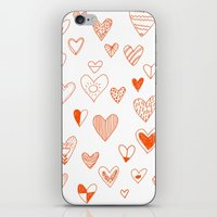 Fun Hearts iPhone & iPod Skin