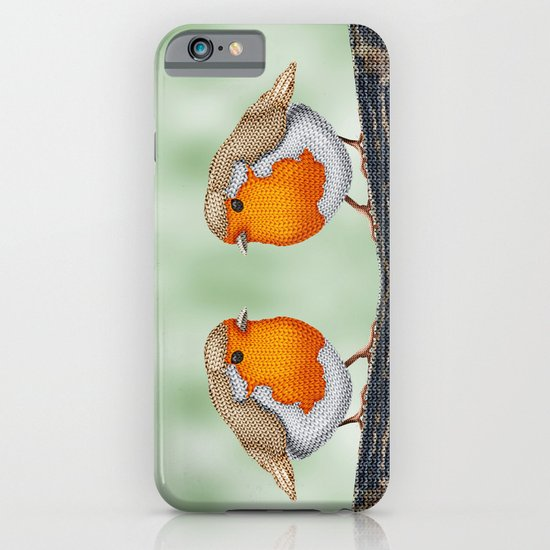 Knitted Robin iPhone & iPod Case