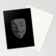 ...You May Call Me 'V' – So who's Anonymous? Stationery Cards