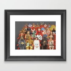 Strarwars at the movies  Framed Art Print