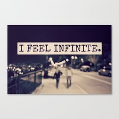 I Feel Infinite Canvas Print