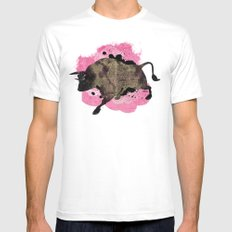 Bull White Mens Fitted Tee SMALL