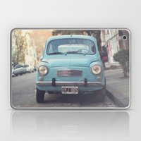 Mint - Blue Retro Fiat C… Laptop & iPad Skin
