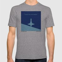 No240 My Inception minimal movie poster Mens Fitted Tee Athletic Grey SMALL