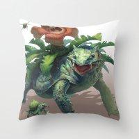 Pokemon-Venusaur Throw Pillow