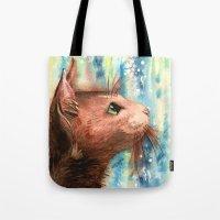 Brown kitty Tote Bag