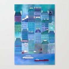 Paris Blues Canvas Print
