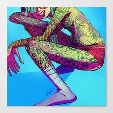 Tattooed Neonka Canvas Print