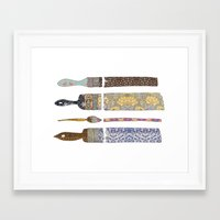 Framed Art Print featuring color your life by Bianca Green