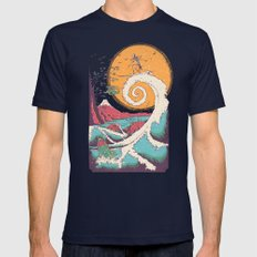 Surf Before Christmas Mens Fitted Tee Navy SMALL