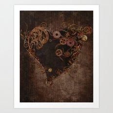 Steampunk Heart Art Print