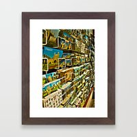 Postcards Framed Art Print