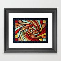 Chromatic Swirl Framed Art Print