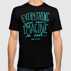 Picasso: Imagine Mens Fitted Tee Black SMALL