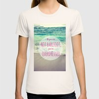 Barefoot Summer Womens Fitted Tee Natural SMALL