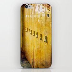 Old Orange Lockers iPhone & iPod Skin