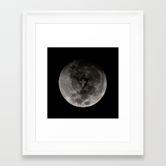 Dark Side of the Magic 8 Ball Framed Art Print