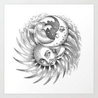 Moon and Sun Art Print