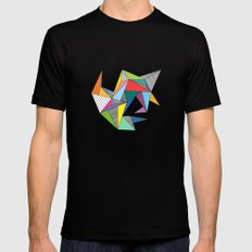 Abstract Triangles Mens Fitted Tee SMALL Black