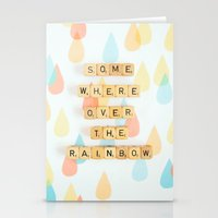Somewhere Over The Rainbow Stationery Cards