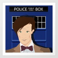 Doctor Who - Matt Smith Art Print