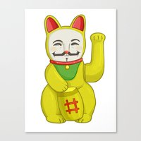Occupy Lucky Cat Canvas Print