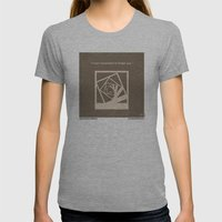 No243 My Memento Minimal… Womens Fitted Tee Athletic Grey SMALL