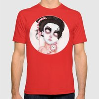Endlessly Waiting  Mens Fitted Tee Red SMALL