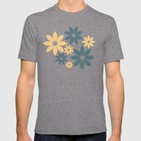Flora Mens Fitted Tee Tri-Grey SMALL