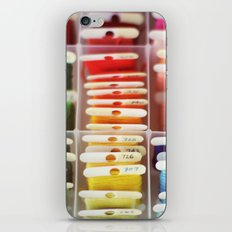 The Endless Possibilities of a Box of Colorful Embroidery Floss  iPhone & iPod Skin