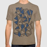 Abstraction Lines With N… Mens Fitted Tee Tri-Coffee SMALL