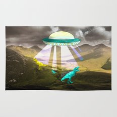 Aliens do exist - dino exctinction event Rug