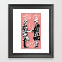 TROUBLE SHAKE Framed Art Print