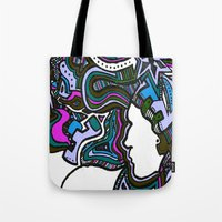 Purple Techno Tote Bag