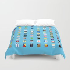 Minimalism beloved Videogame Characters Duvet Cover