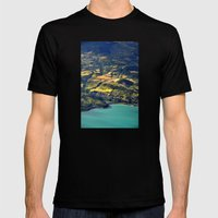 Painted Shore Mens Fitted Tee Black SMALL