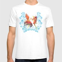 Flame Princess in Love Mens Fitted Tee White SMALL
