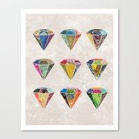 Diamonds Collage Canvas Print