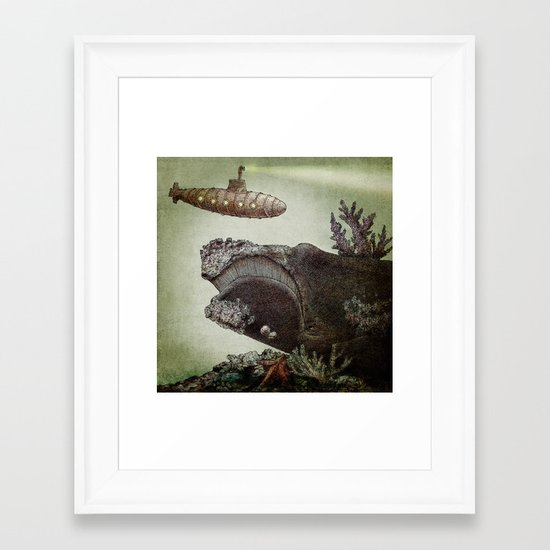 Leviathan (colour option) Framed Art Print