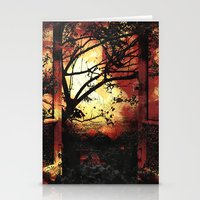 Enter the fertile garden of light and dispel the darkness of the night Stationery Cards