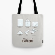 Let's go explore Tote Bag