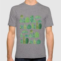 Watercolour Topiary Mens Fitted Tee Tri-Grey SMALL