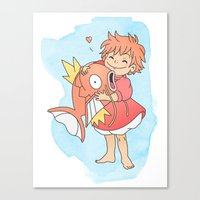 Fishy Friends Canvas Print